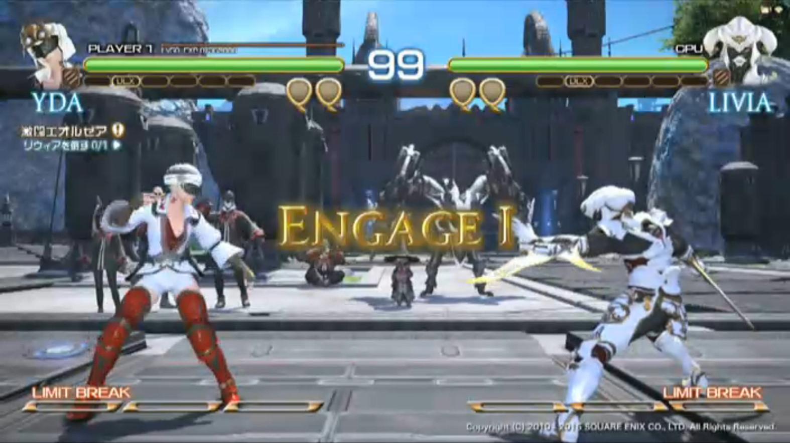 ゲーム内のモーションを使っているが、格闘ゲームとしてまったく違和感がない