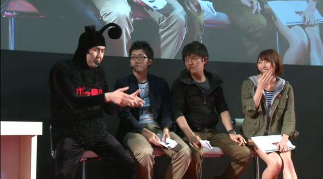今国智章さん、ゲーム実況者のハヤシさん、ワキ@さん、榊原あやさんも対戦中に実況してステージを盛り上げた