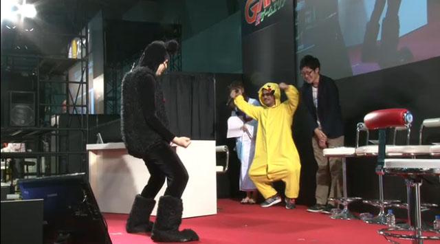 ピカチュウも踊る!「ポケモンの名前ぇぇぇーー!」っと会場全体とコメントが熱唱して、楽しくステージを締めくくった