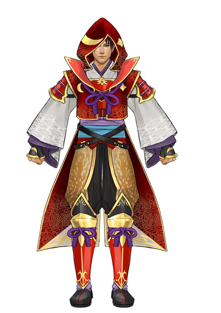 「Empires」では無双武将だけでなく、戦国時代に活躍した日本全国の武将でプレイできる。「茶々」や「まつ」といった姫武将が100人以上登場し、さらに、有名な汎用武将も、個性化した見た目で登場する。画像は新規武将パーツのデザイン画