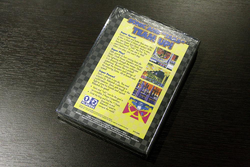 奧成氏所蔵の「ソニック・ザ・ヘッジホッグ2」のパッケージ……なぜか海外版。それも未開封! なつかしい!!