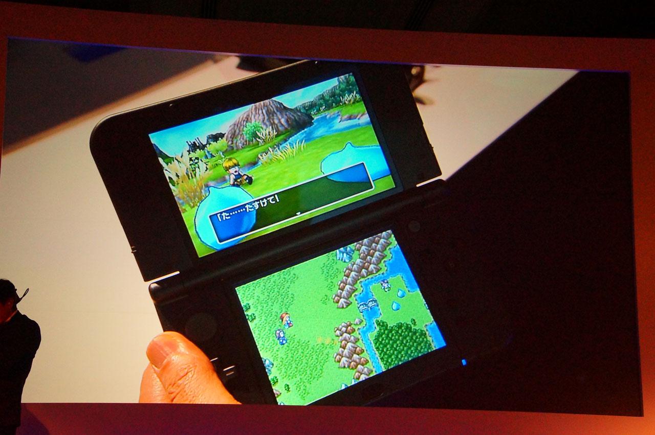 イベントシーンでは、上下画面の3D&2Dが同時に展開される