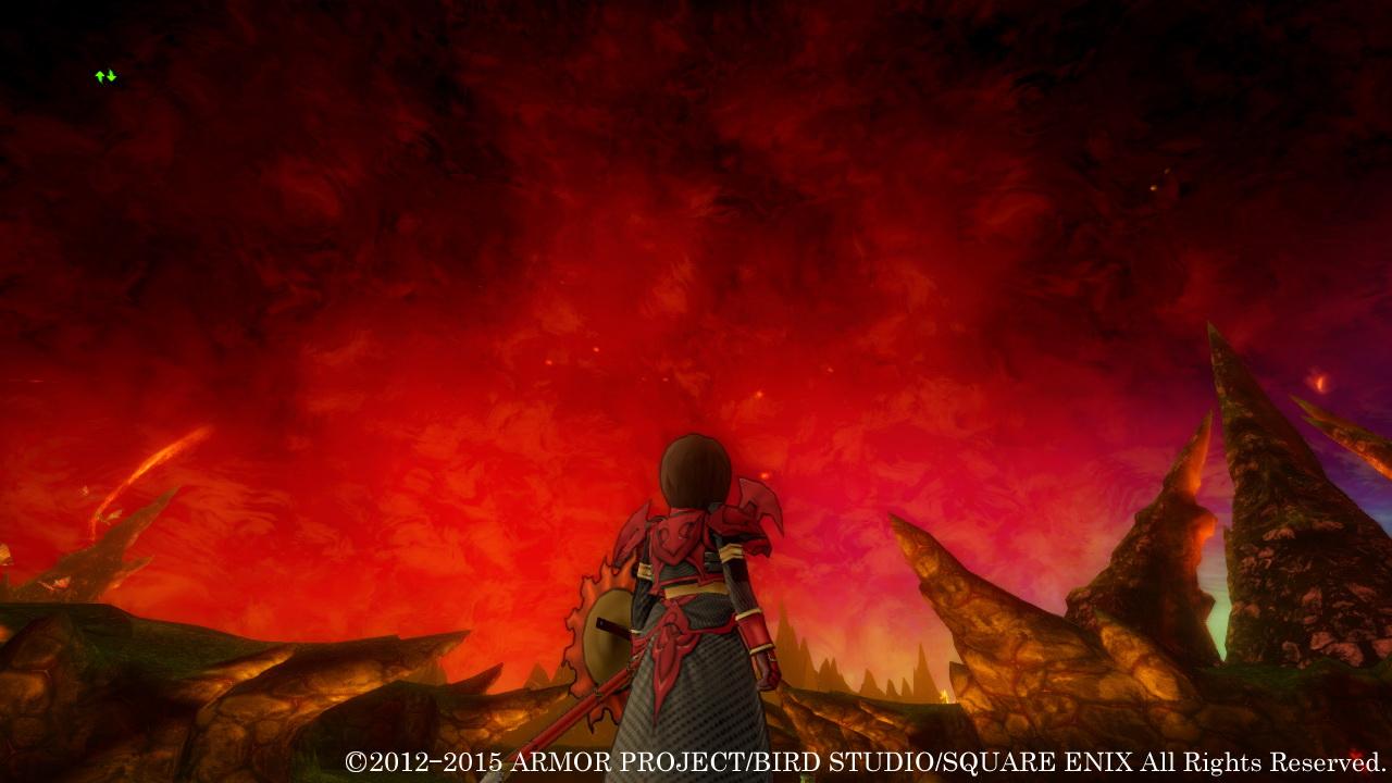 この世界で初めて降り立つ「赤熱の荒野」は、炎が吹き荒れる過酷な場所となっている