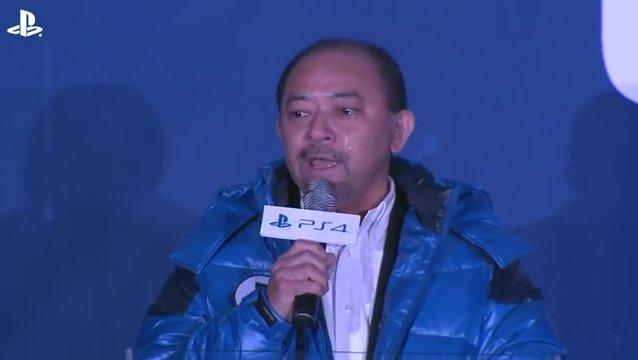2013年12月のPS4ローンチイベントで涙を流す川内氏。ここに到るまで無数のドラマがあったという
