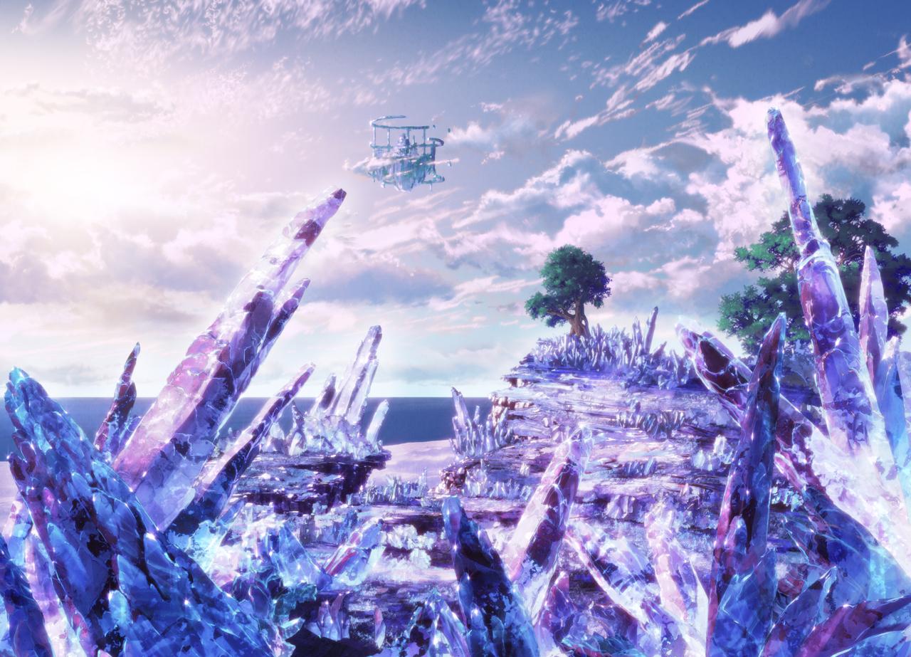 水晶に覆われた世界が描かれた「決勝の大地と導きの光」キーアート