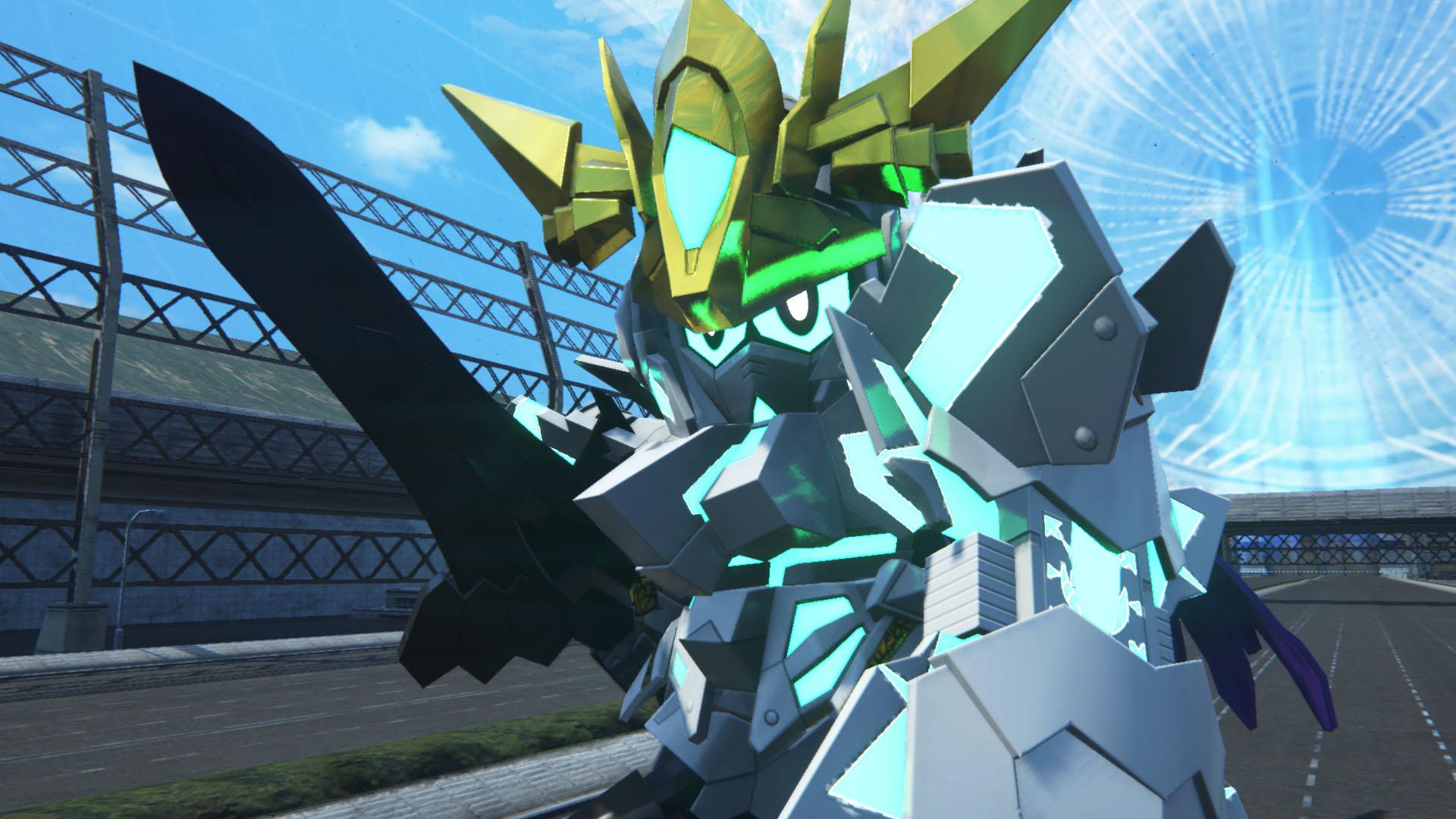 マスク姿だった騎士ユニコーンガンダムがリミッターを解除した真の姿。彼が操る「コール」の魔法は敵を滅する光の雨を降らせる