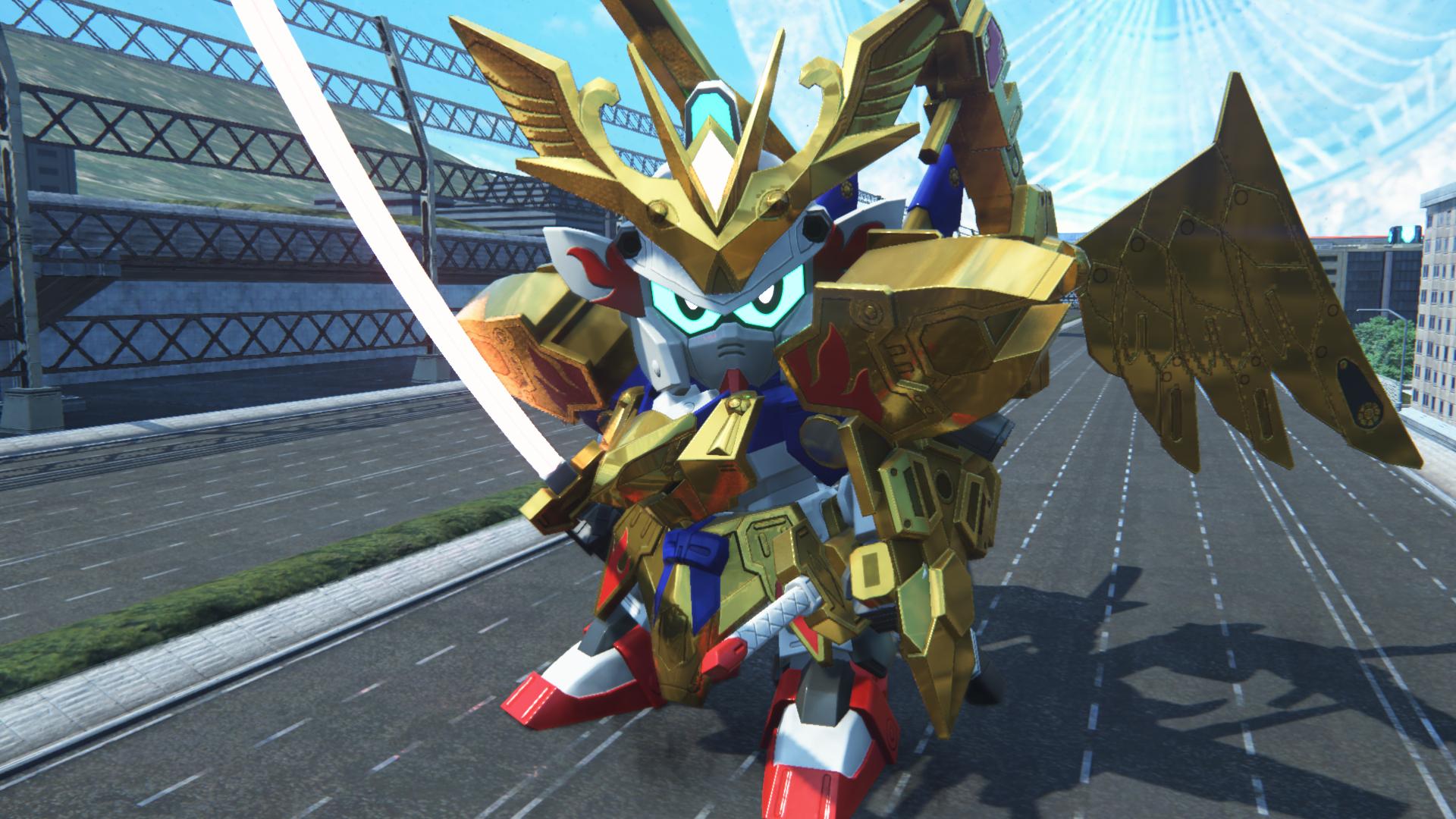 大きな翼が特徴の金色の羽衣を身にまとったSDガンダム。必殺の「飛燕竜巻返し」は直線状の敵をなぎ倒す
