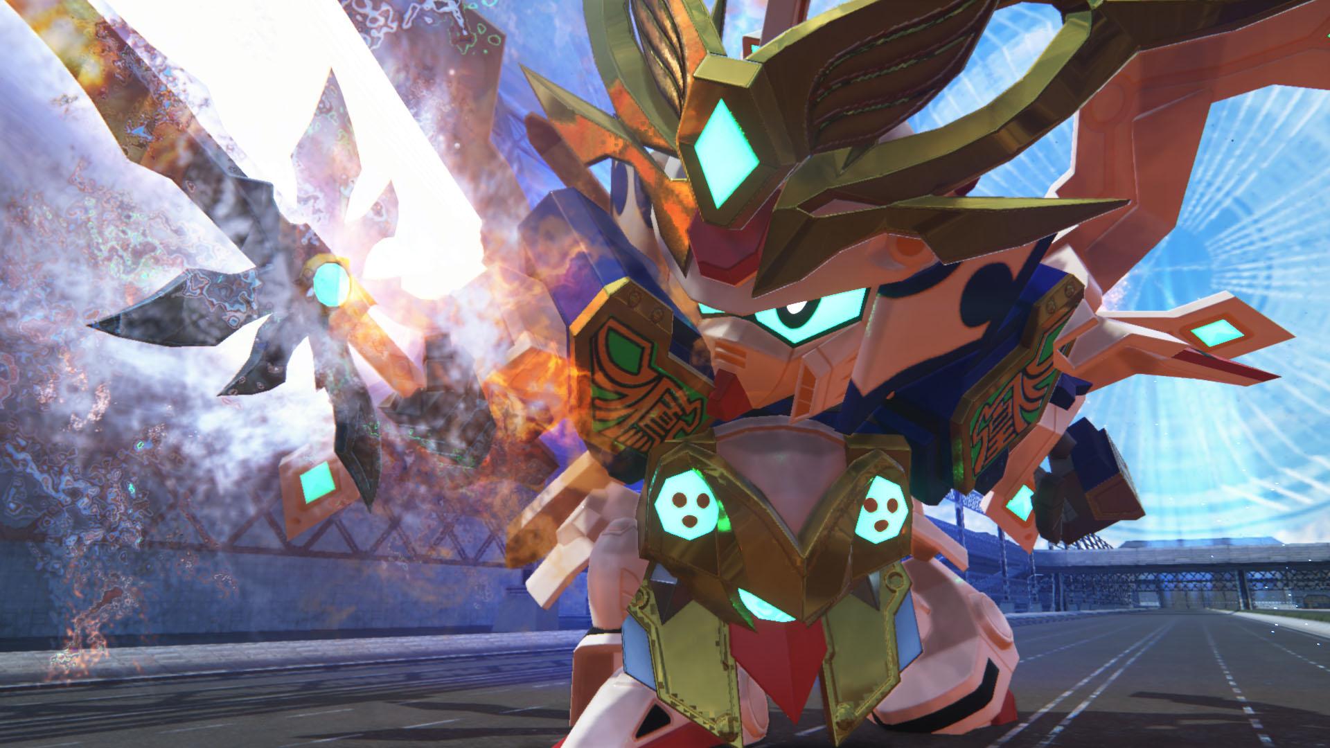 胸に輝く「炎水の玉」が特徴的な爆熱の武者。奥義「熱火爆輪斬」を放つ際には「スーパーモード 爆熱の陣」形態になる