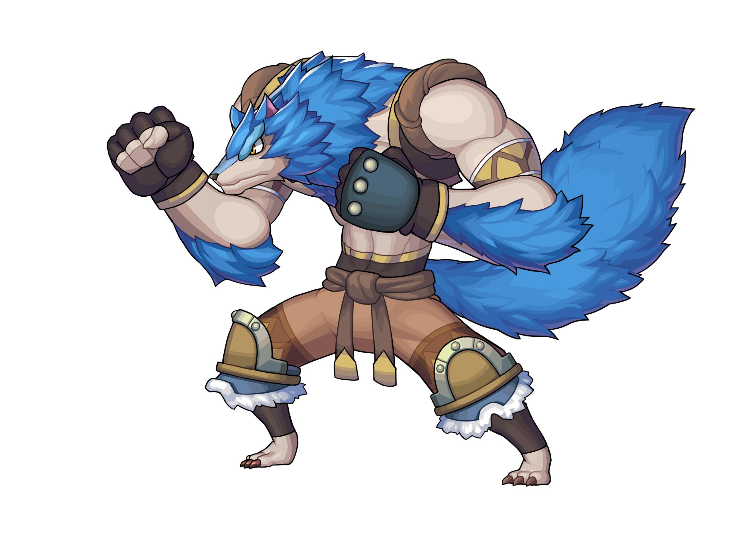 "<strong class="""">「ウルバ族」</strong><br class="""">大陸各地に広く根付いている獣人の中でもオオカミに似た特徴を持つ獣人族。黒や茶色などの毛並みを持った亜種も存在する。ウルバ族は力強い体躯と優れた身体能力を備えその拳から繰り出す打撃は他種族が振るう剣になんら遜色ない威力を発揮する"