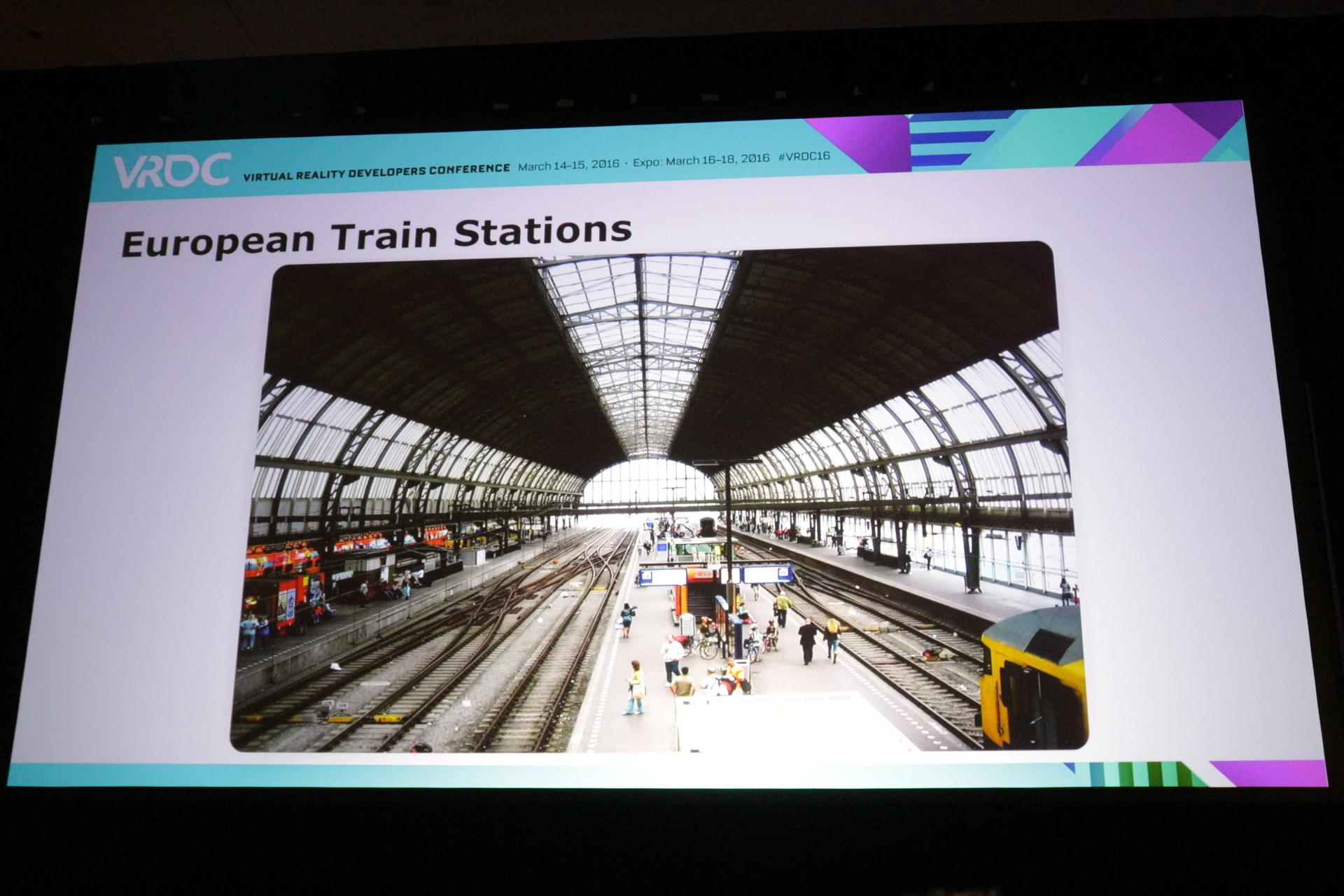 ステージデザインの元になったのは、スタジオのある街の空港と、フランス人クリエイターの故郷の駅舎。電車の外観はマーケットプレイスのものを利用するなど最小限のアセット制作で開発が進められた