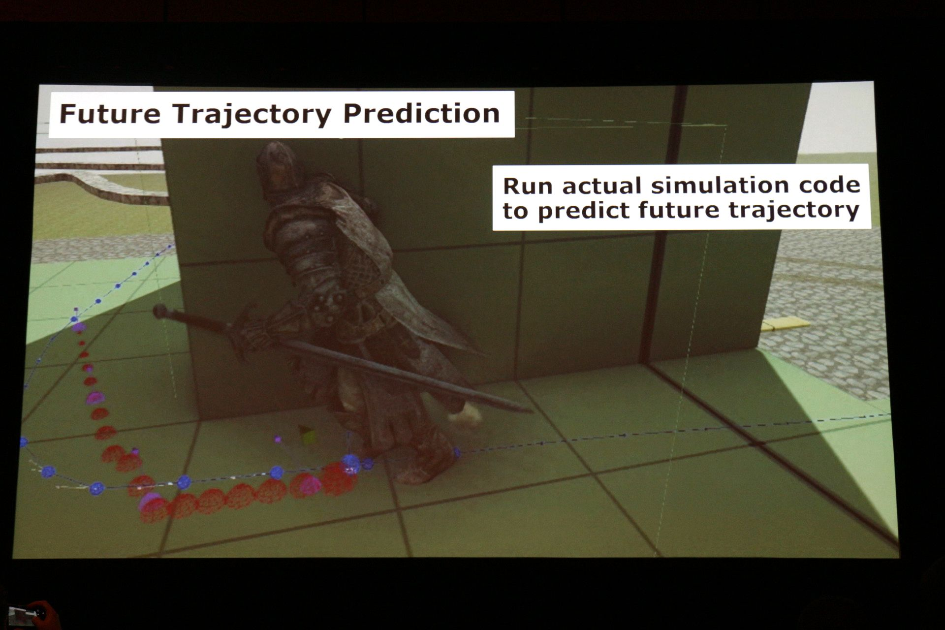 軌道予測でアニメーションマッチングの精度を向上させている