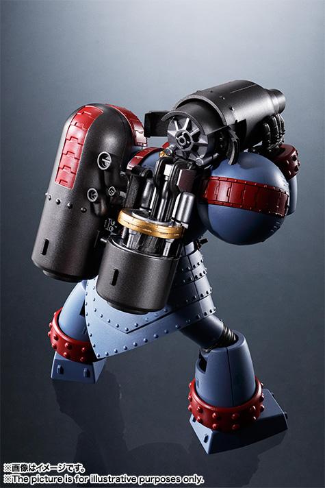5月に発売予定の「スーパーロボット超合金 ジャイアントロボ THE ANIMATION VERSION」。価格は11,000円(税別)。金属パーツや、塗装にオレスカ氏のこだわりが込められている