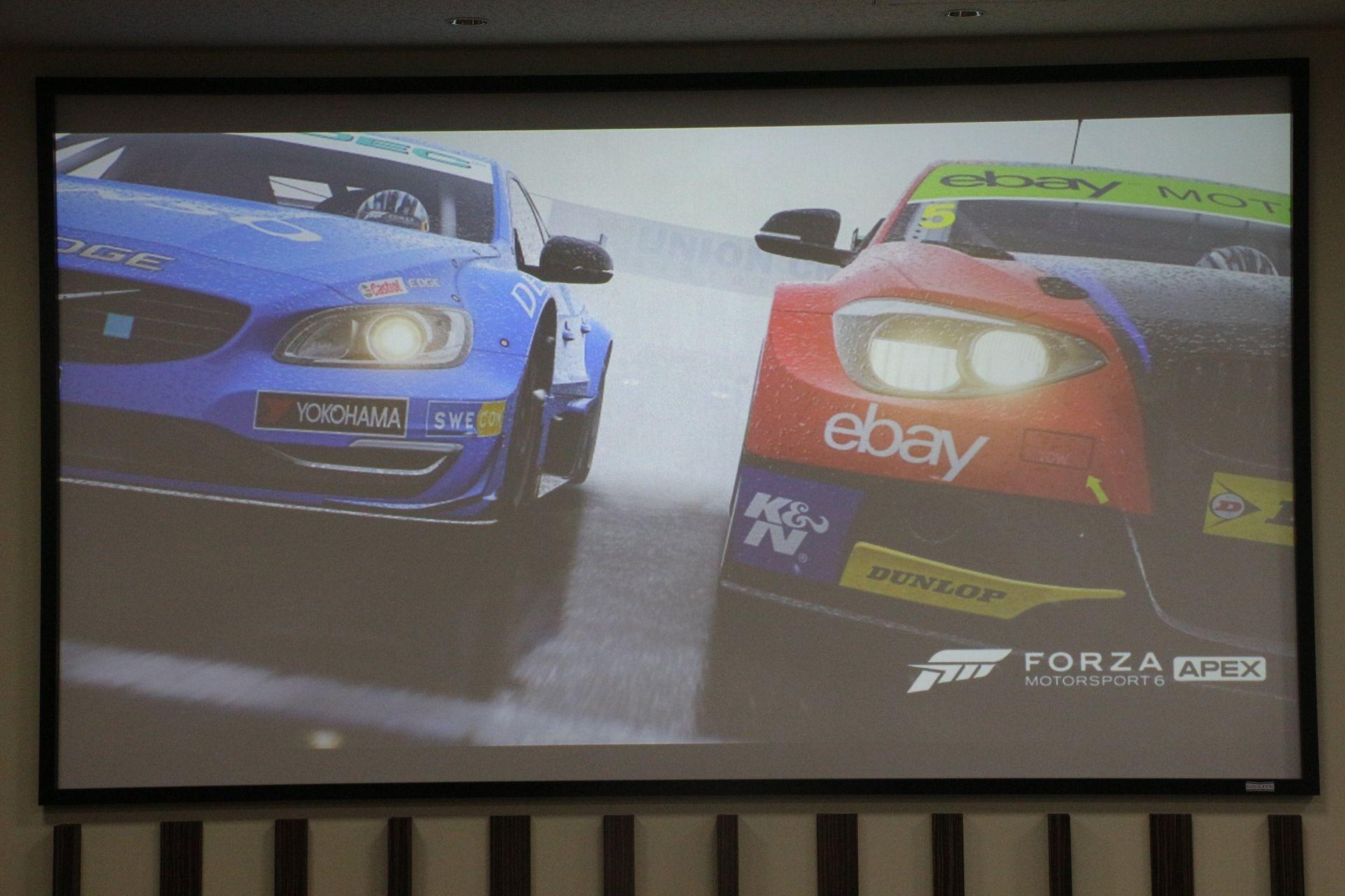 「Forza Motorsport 6: Apex」。「Forza」シリーズ初のWindows版。基本プレイ無料で今春リリース予定