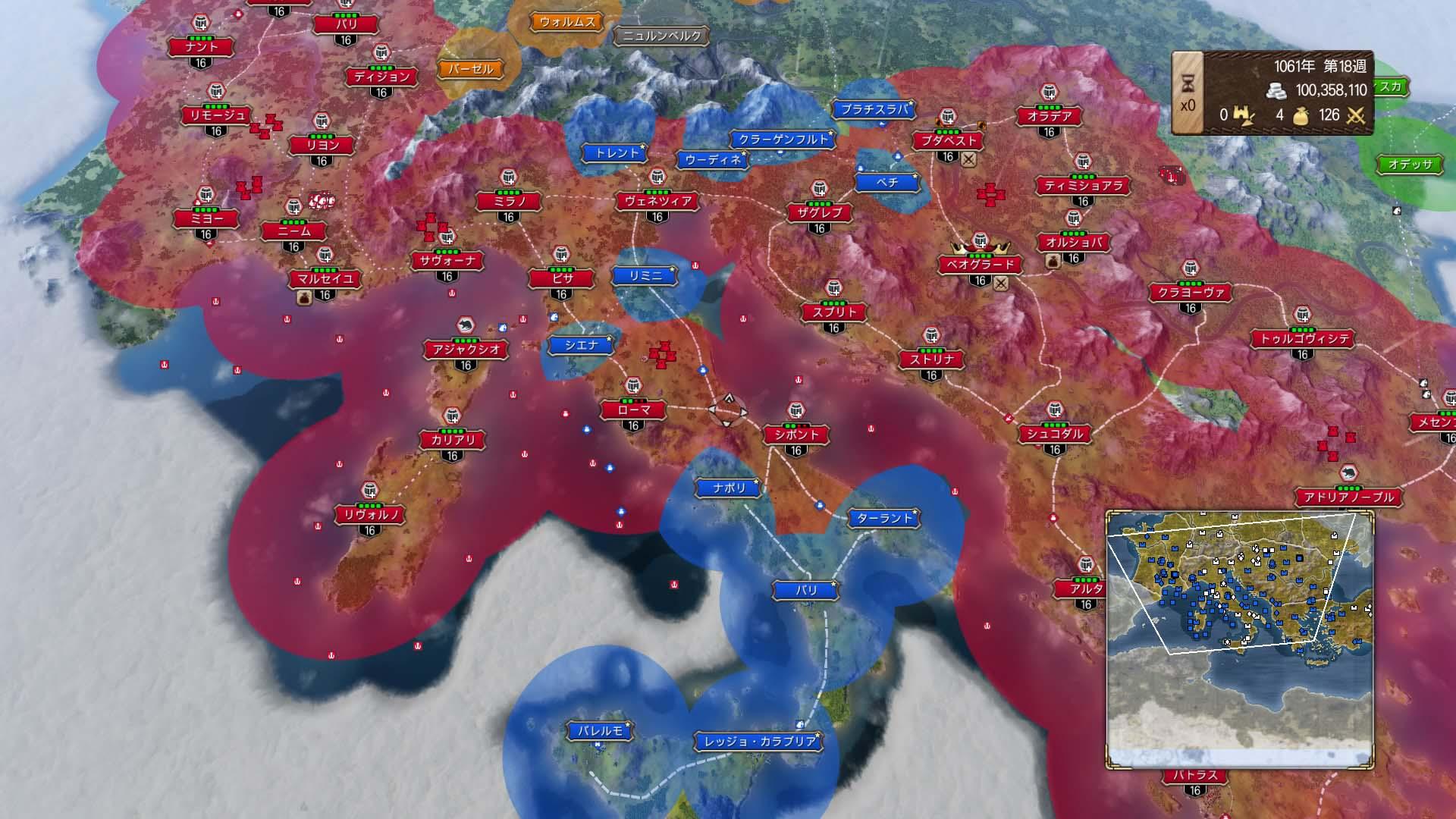 再現された数多くの都市