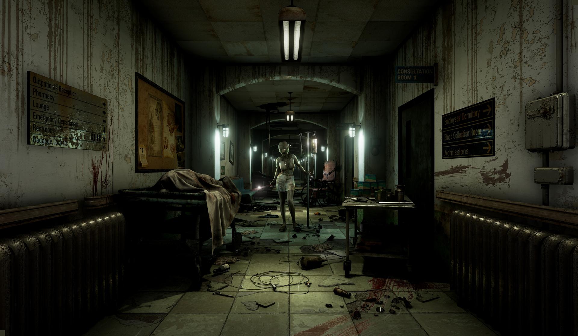 不気味な存在が潜む、荒廃した病棟