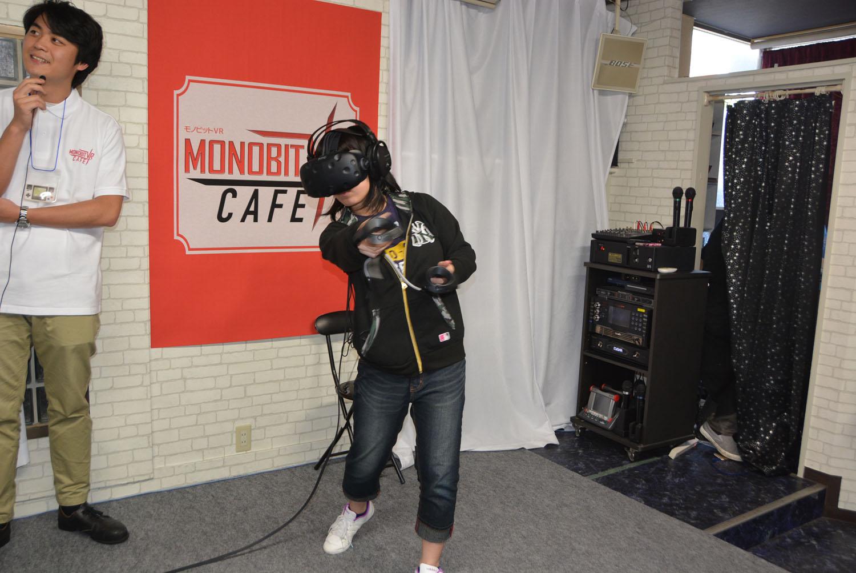 VRコーナーは自分でプレイするだけでなく、プレイしている人の姿も楽しい