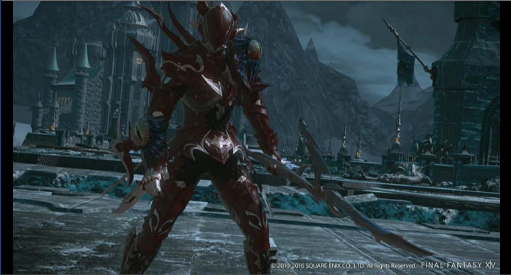 竜の血で赤く染まった鎧を身に着けたエスティニアンのスクリーンショットが公開された