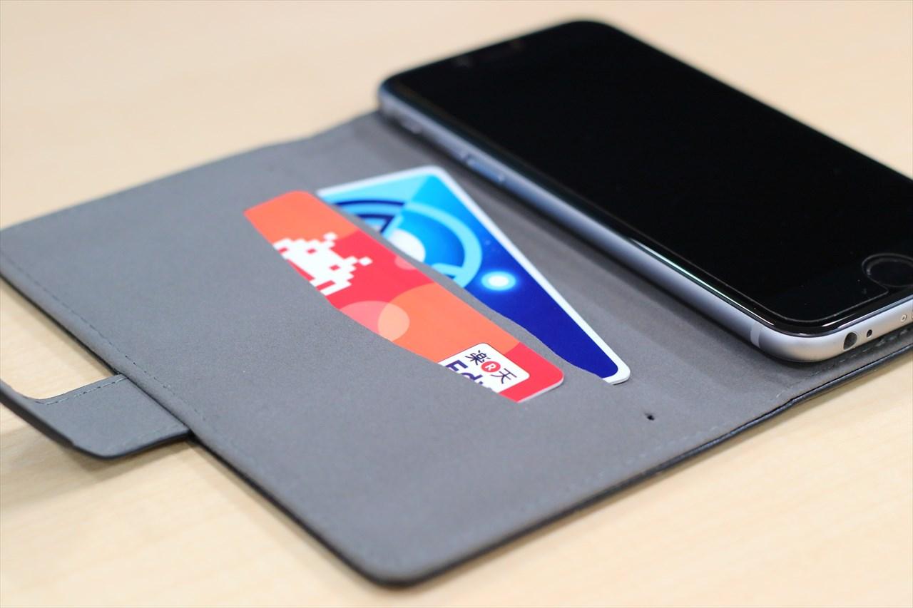 電子マネーなど、ICカードの使用に便利なカードホルダー