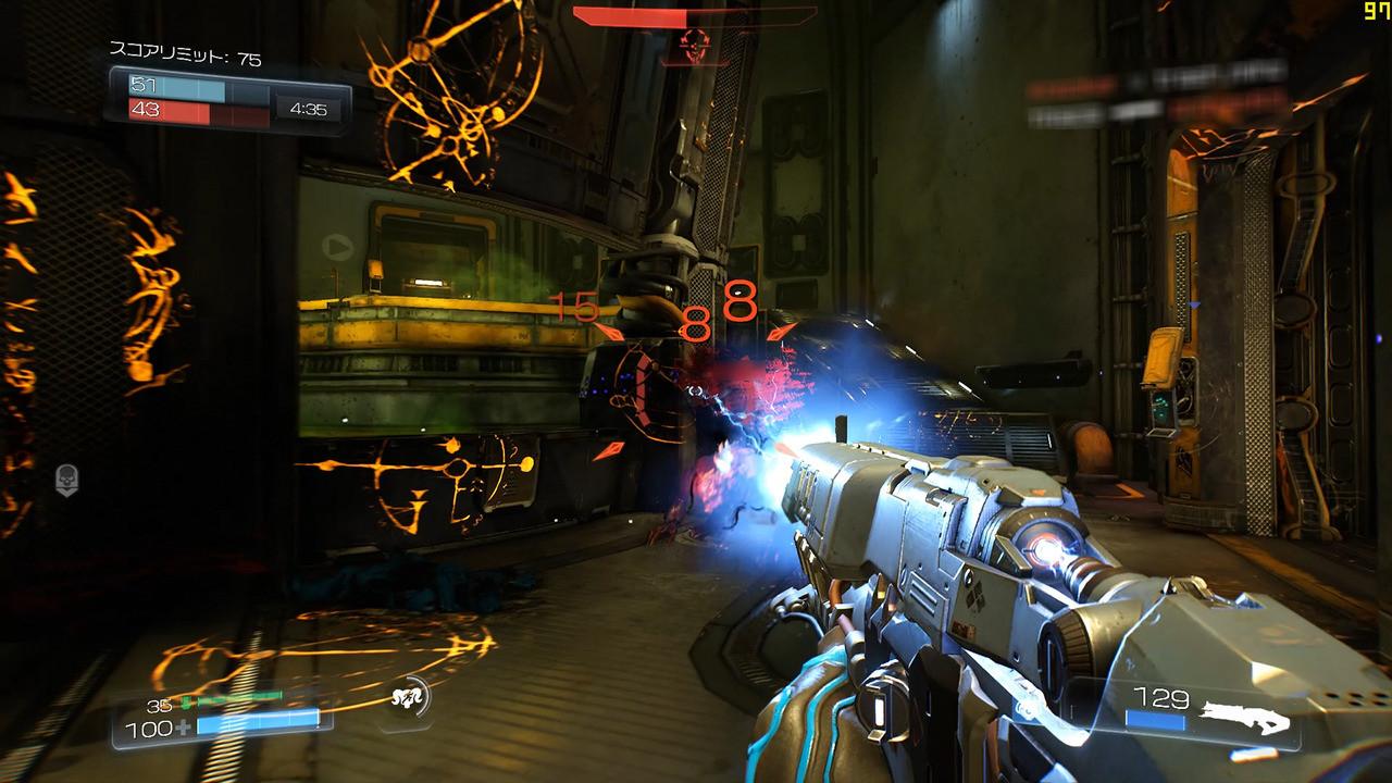 ロケットランチャー、ライトニングガンといった一見して強そうな武器も、ダメージは控えめ。何発も当てていく戦いになる