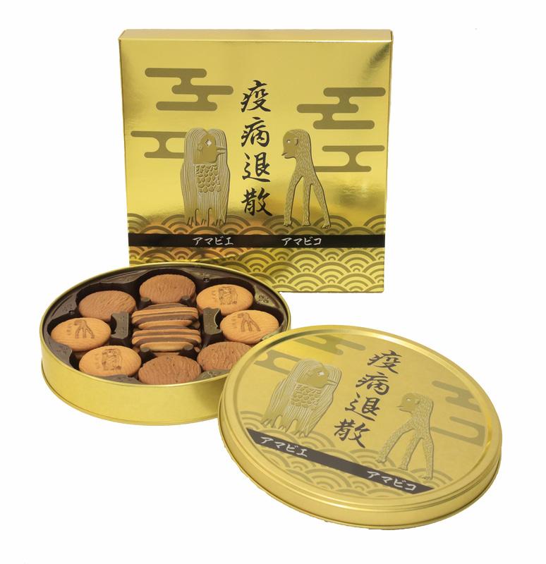 「アマビコ アマビエ祈念クッキー缶」(1700円)