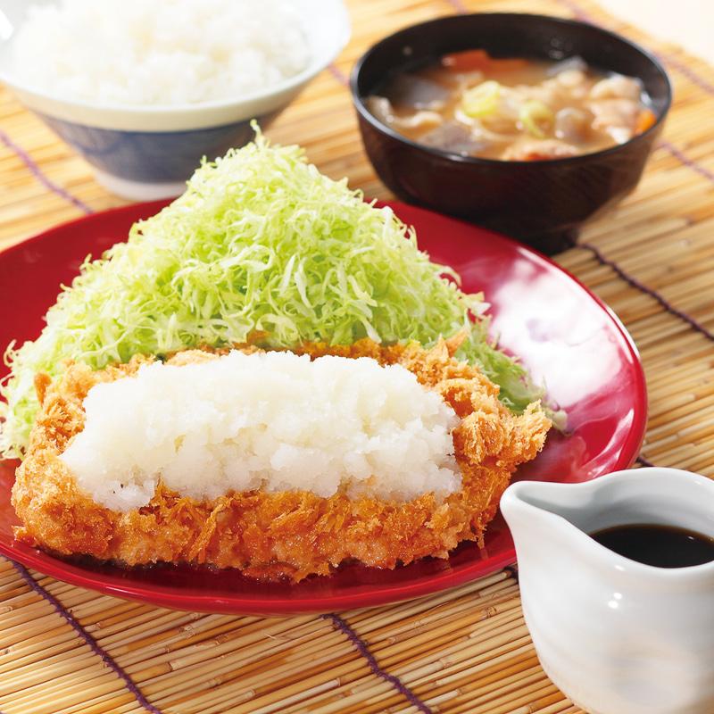 「おろしカツ定食」869円→704円
