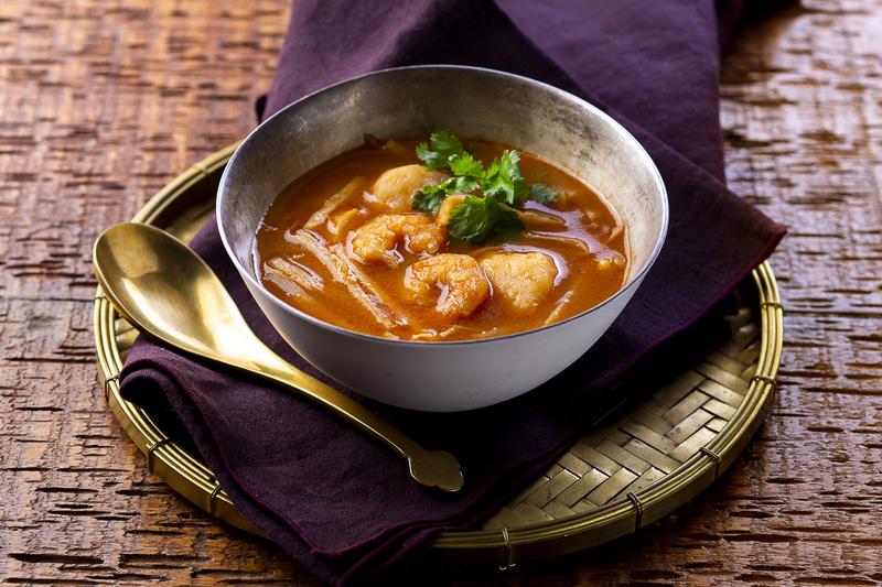 5種具材のシンガポール風海老スープ