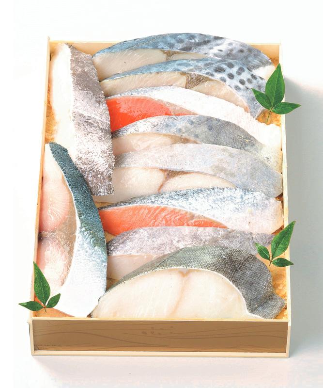 鈴波「魚介味淋粕漬詰合せセ8A」(8640円)