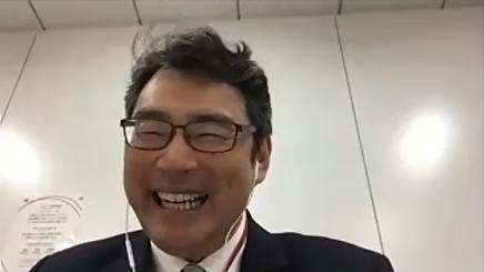 本誌のオンライン取材に笑顔で応じる山田氏