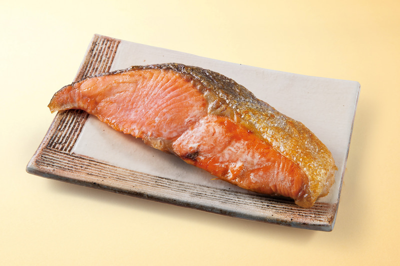 「銀鮭の塩焼き」(378円)