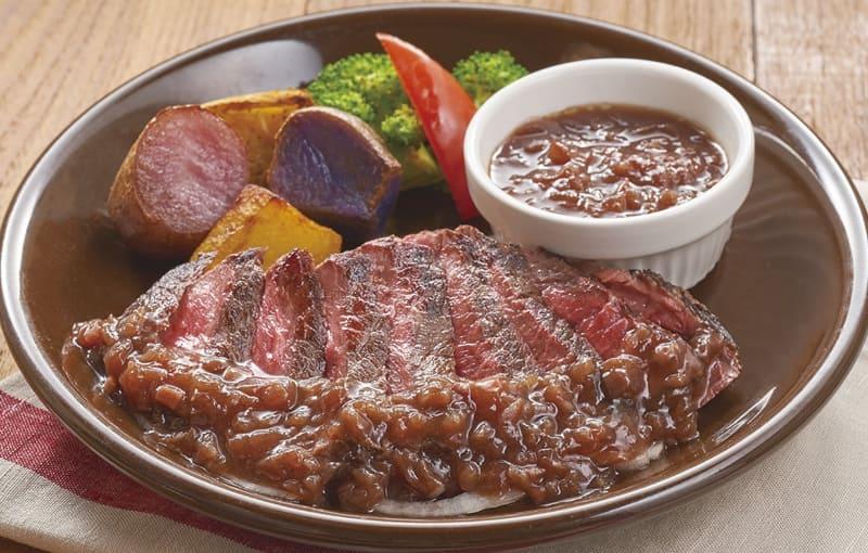 北海道産赤身ランプステーキ&北海道の3色じゃがいもと野菜のグリル