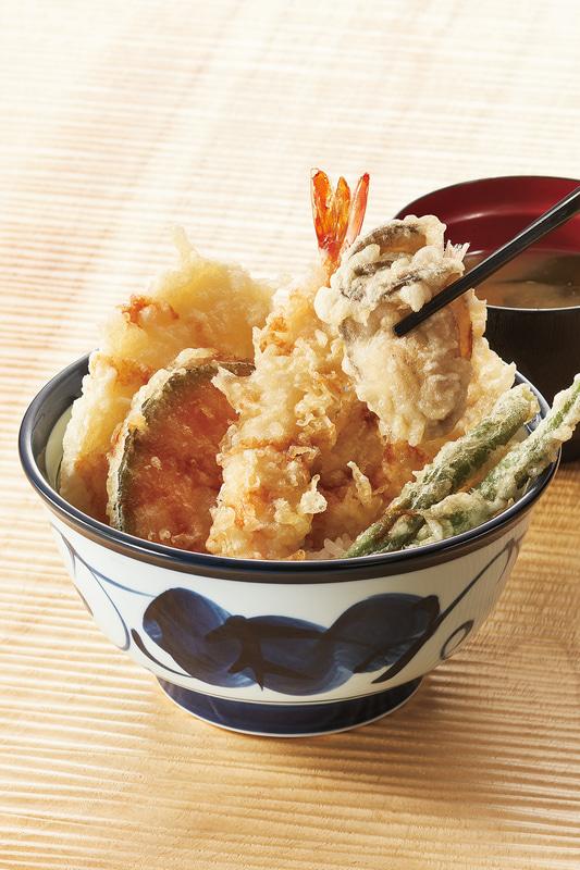 「天丼プラスかき」750円