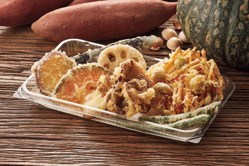 「秋味のかき揚げ+野菜天ぷら盛合わせ」700円
