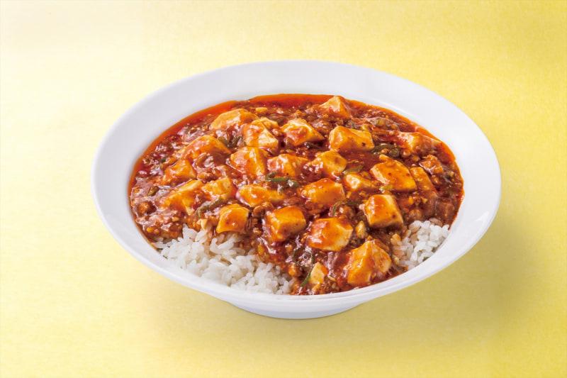 ランチ自家製辣油の麻婆豆腐丼