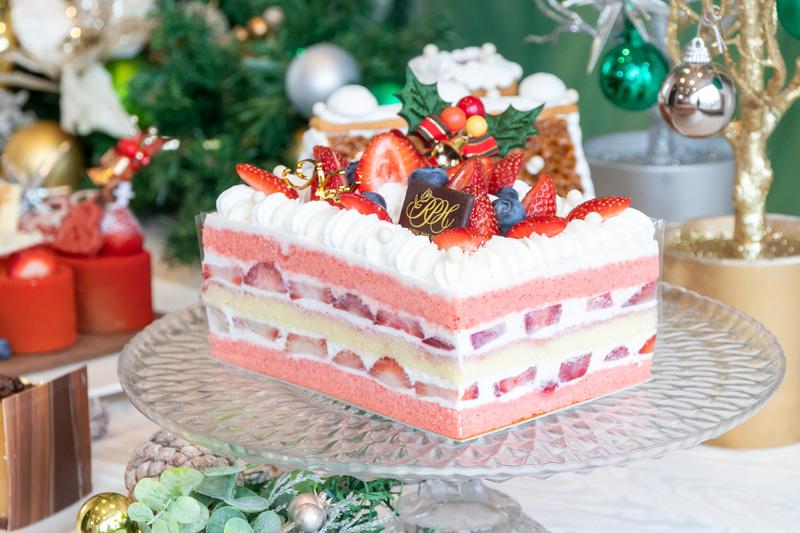 「クリスマスショートケーキ」。4~6人用のLサイズが4860円で、2~4人用のSサイズが3240円