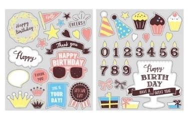 「Happy Birthday」「Love」の2テーマのシール