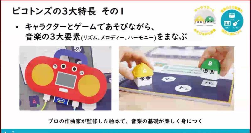 直感的に操作ができるのも「ピコトンズ」ならではの特徴だ。左側の赤いキャラクターが「Mr.コンソール」で、右側の2体のキャラクターがAくんとBくんである