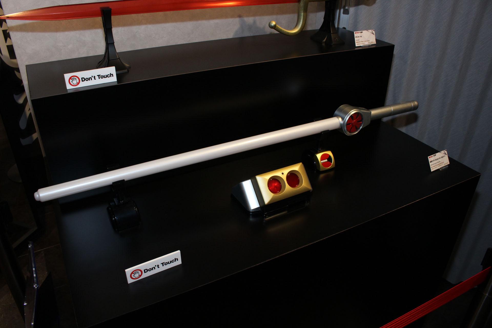 仮面ライダーブラックRXのリボルケイン。発光・音声ギミックなどを内蔵し、2018年に発売されたものだ