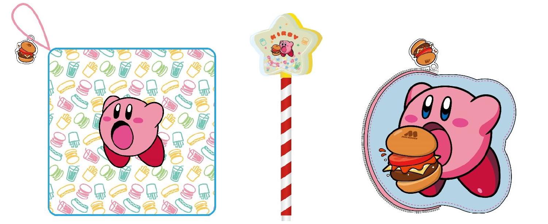 おもちゃ第1弾のラインナップ。左からミニガーゼタオル、ボールペン、ミニポーチの3種類