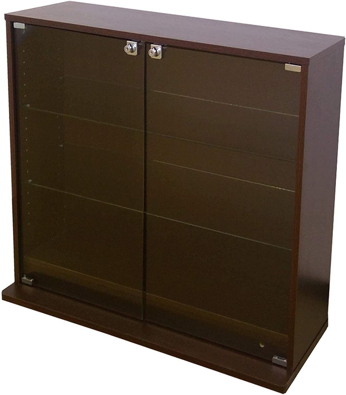 90×18×81cm(幅×奥行×高さ)タイプ 浅型 ブラウン