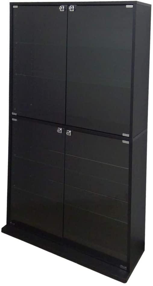 90×18×160cm(幅×奥行×高さ)タイプ 浅型 ブラック