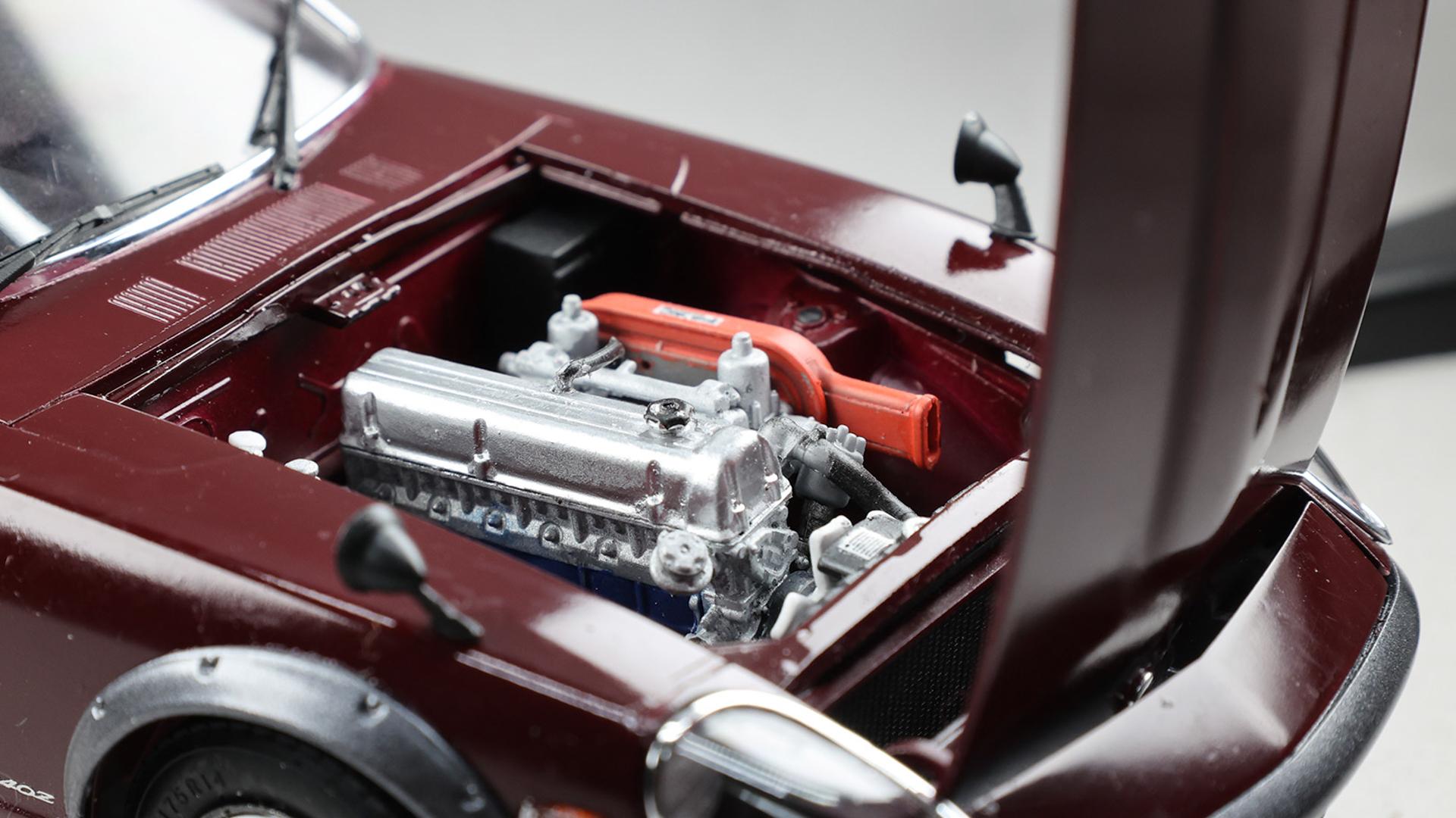 エンジン再現はとても精密で制作意欲を高めてくれます