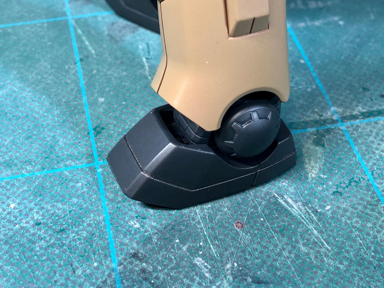塗装完了後の脚部