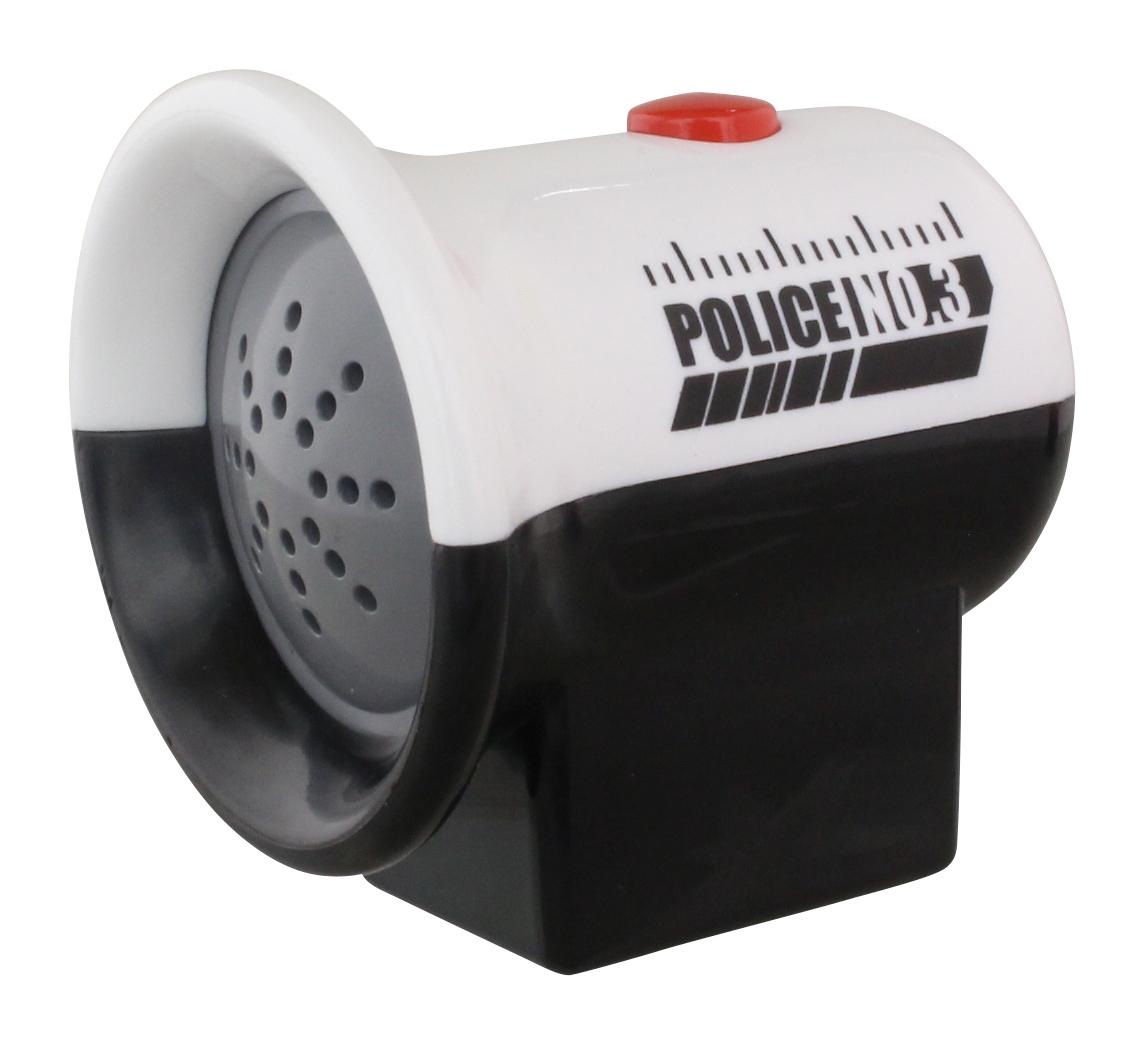 音が鳴る警告サイレンは高さ約55mm