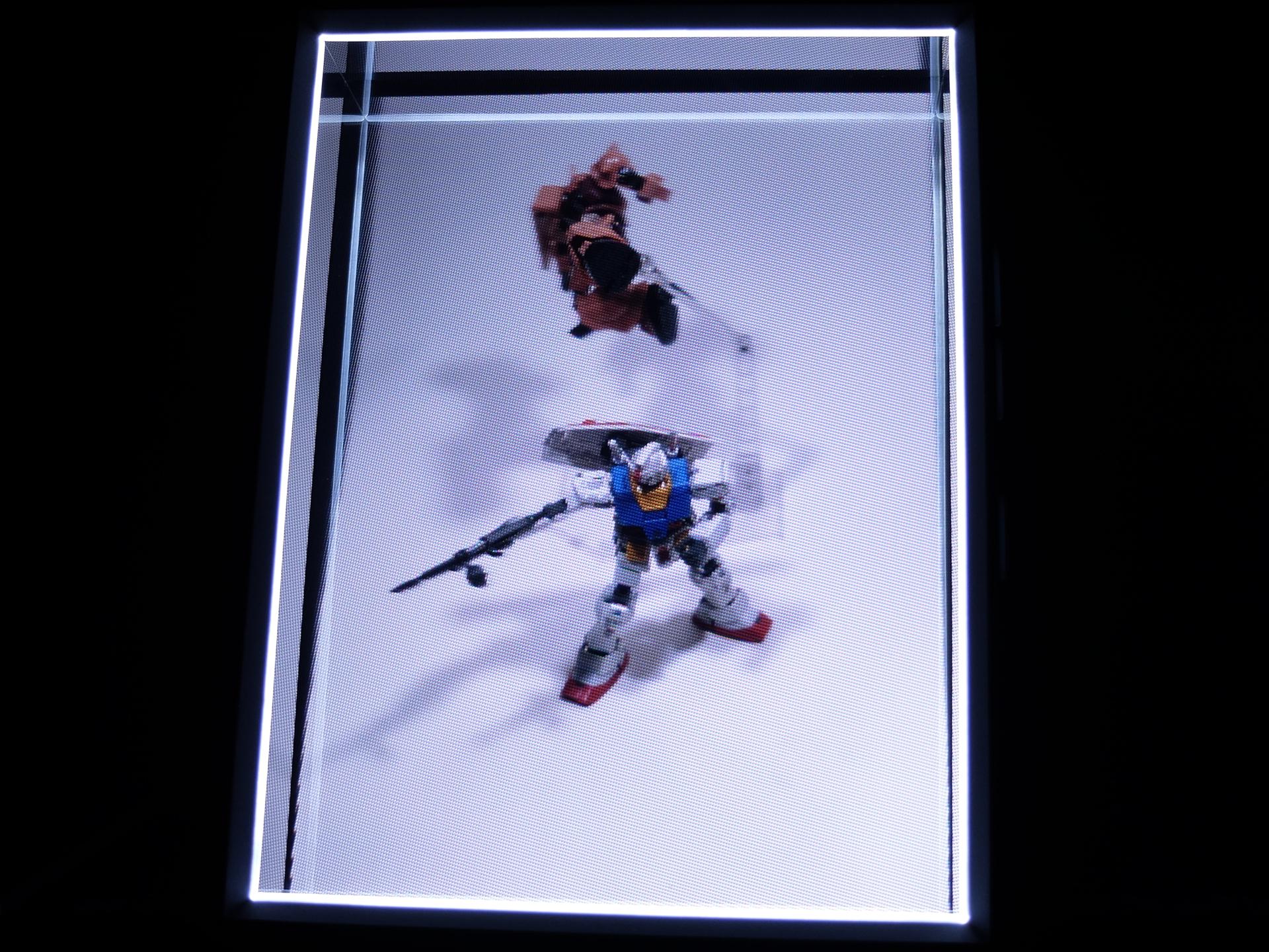 実際に「Looking Glass Portrait」上で表示するとこんな感じ