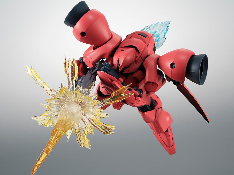 「ROBOT魂 <SIDE MS> エフェクトパーツセット2 ver. A.N.I.M.E.」(別売り)と連動すれば迫力ある戦闘シーンが再現可能