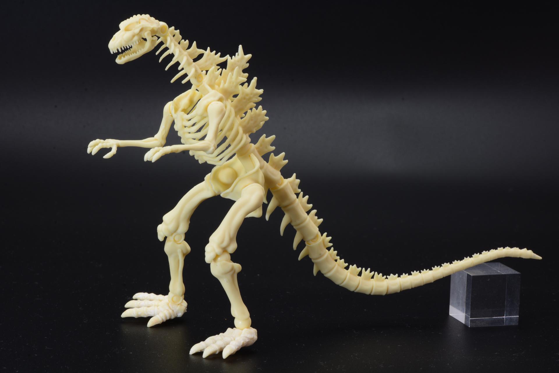 骨格モデルでありながらきちんとゴジラの持つ迫力が伝わってくるのは、「VSシリーズ」でもデザイナーとしても関わった、西川伸司氏だからこそのこだわりが込められているからだ