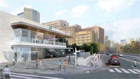 聖橋口の駅前広場完成イメージ