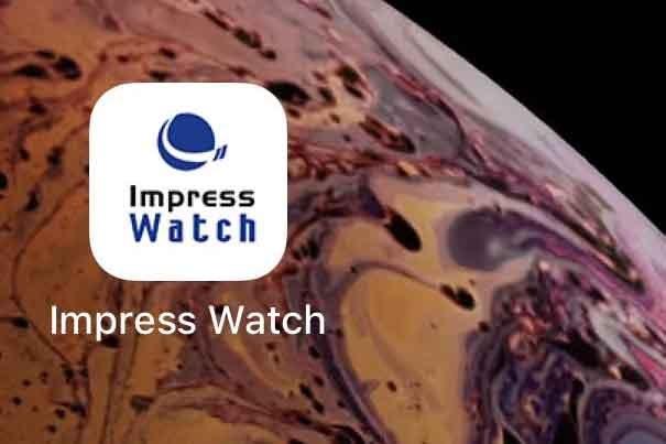 スマホのホーム画面にImpress Watchのショートカット登録
