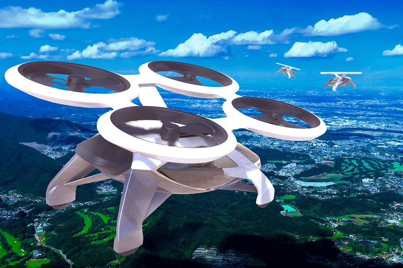 「空飛ぶタクシー」イメージ