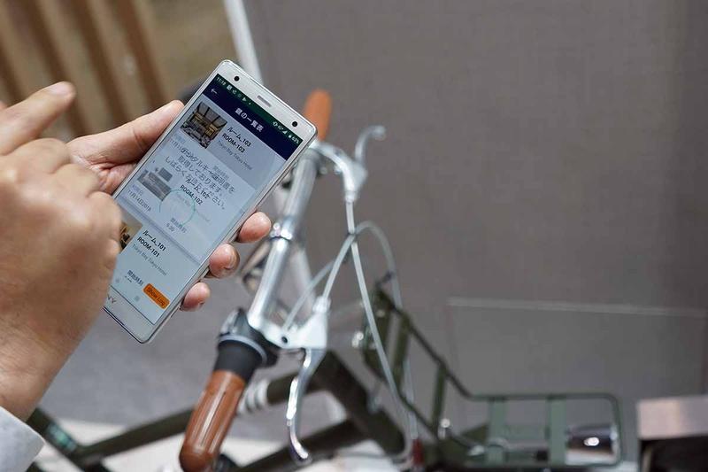 自転車での応用。システム自体は様々な認証システムに活用できるとのこと